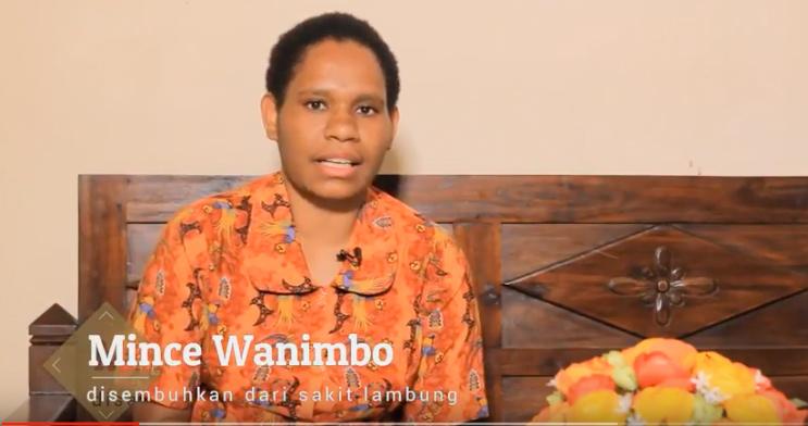 Mince Wanimbo: Sembuh Dari Sakit Lambung di KPPI Jakarta 26 Juli 2018