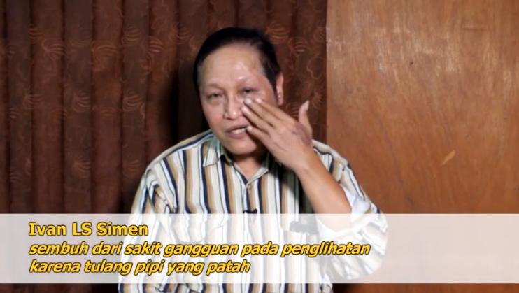 Ivan LS Simen : Sembuh Dari Gangguan Penglihatan Karena Patah Tulang Pipi - KPPI 8 November 2018